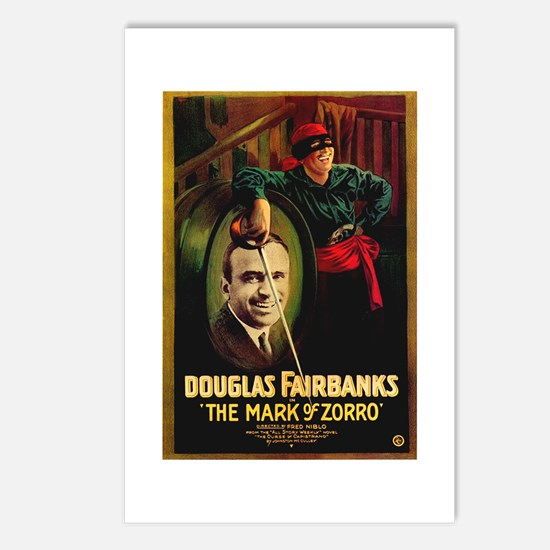 The Mark Of Zorro Postcards (Package of 8)