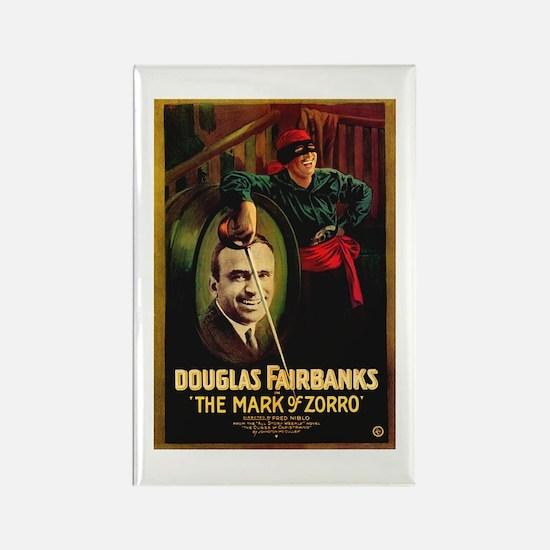 The Mark Of Zorro Rectangle Magnet