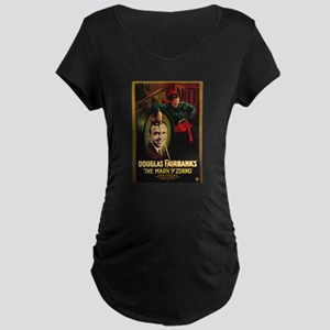 The Mark Of Zorro Maternity Dark T-Shirt