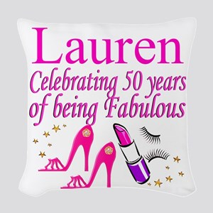 MS DIVA 50TH Woven Throw Pillow