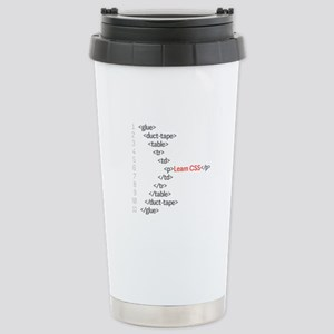 HTML CSS Geek Stainless Steel Travel Mug