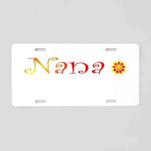 Nana Summer Colors Aluminum License Plate