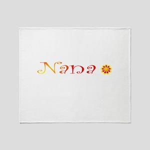 Nana Summer Colors Throw Blanket