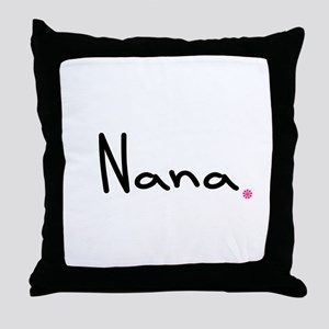 Just Nana Throw Pillow