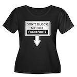 Dont Block My Box Women's Plus Size Scoop Neck Dar