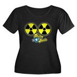 Dirty Bombs Women's Plus Size Scoop Neck Dark T-Sh