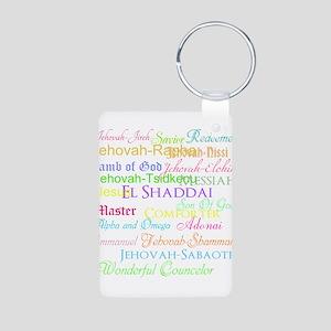 Names of God Aluminum Photo Keychain