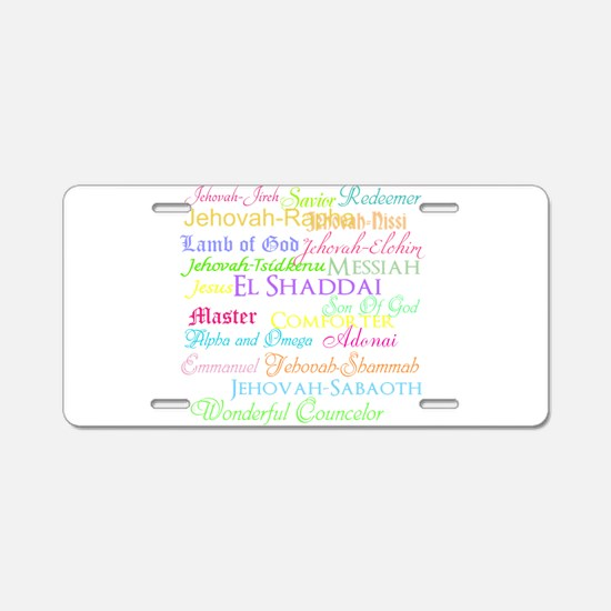Names of God Aluminum License Plate