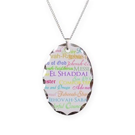 Names of God Necklace Oval Charm