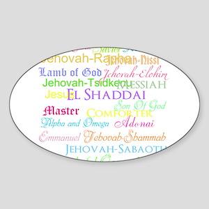 Names of God Sticker (Oval)