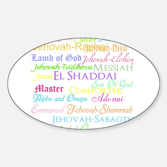 Names of God Sticker (Oval)