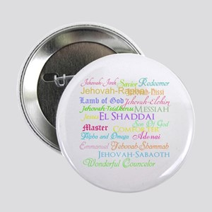 """Names of God 2.25"""" Button"""
