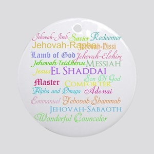 Names of God Ornament (Round)