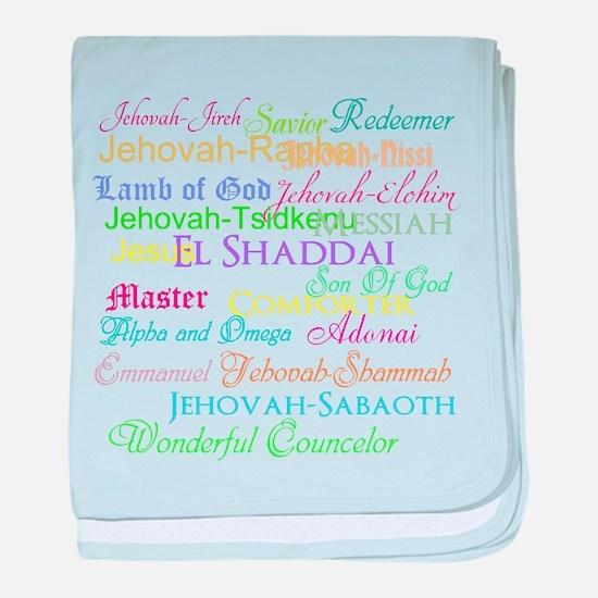 Names of God baby blanket