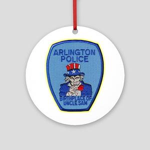 Arlington Texas Police Ornament (Round)