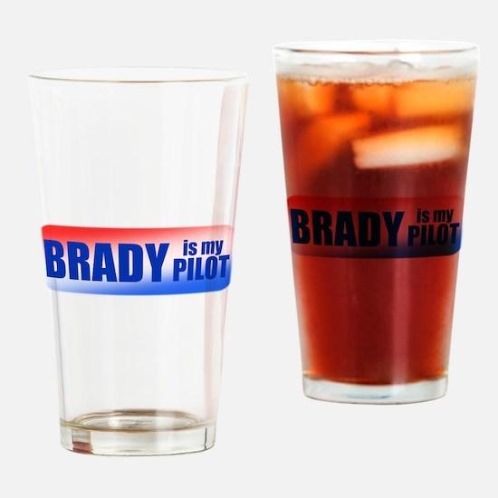 Brady Is My Pilot Drinking Glass