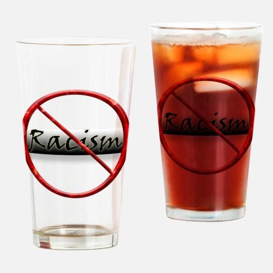 No Racism Pint Glass