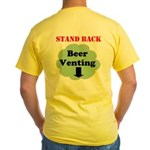 Beer Venting Yellow T-Shirt
