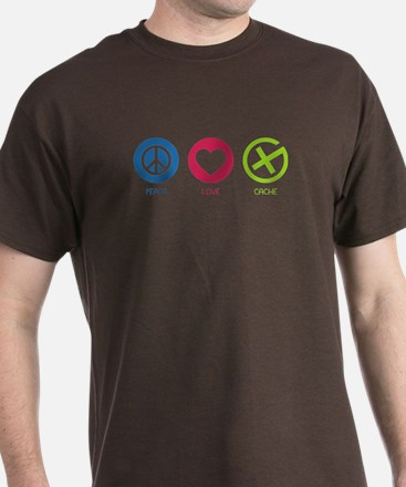 Geocaching PEACE LOVE CACHE T-Shirt