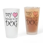 Heart Belongs to Dog Pint Glass