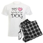 Heart Belongs to Dog Men's Light Pajamas