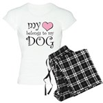 Heart Belongs to Dog Women's Light Pajamas