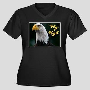 FEAR NO ONE Women's Plus Size V-Neck Dark T-Shirt