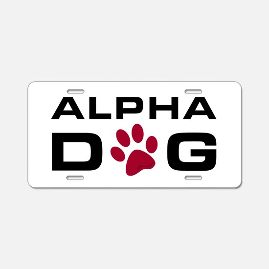 Alpha Dog Aluminum License Plate
