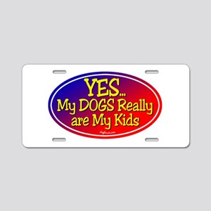 Yes Dog Kids Aluminum License Plate
