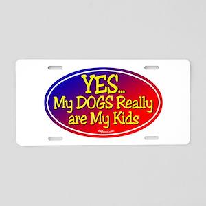 Yes Dog Kids Aluminum License Plate