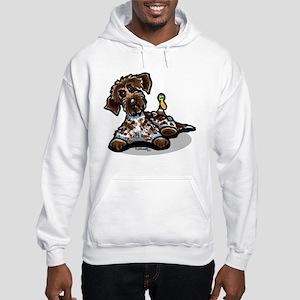Funny Pointing Griffon Hooded Sweatshirt