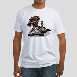 Funny Pointing Griffon Fitted T-Shirt