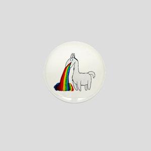Llama Vomit Mini Button