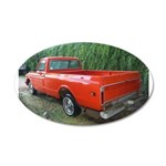 1971 Ch##y Truck Front & Rear 38.5 x 24.5 Oval Wal