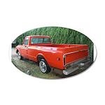 1971 Ch##y Truck Front & Rear 22x14 Oval Wall Peel