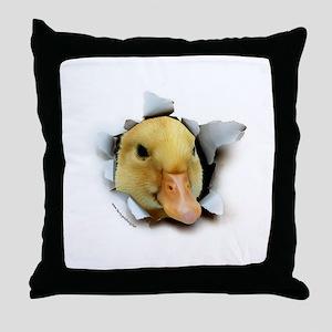 Duckling Burster Throw Pillow