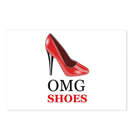 OMG shoes Postcards (Package of 8)