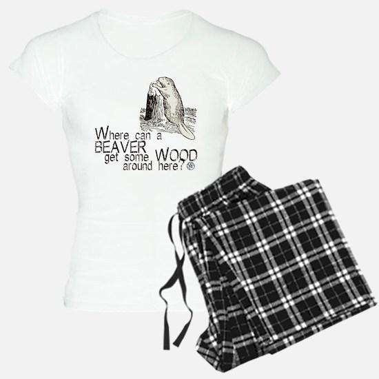 """""""Beaver/Wood"""" Pajamas"""