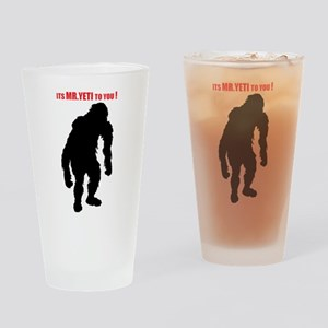 Mr. Yeti Drinking Glass