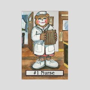 Nurse, Female - Rectangle Magnet