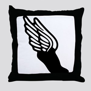 Track and Field Icon Throw Pillow