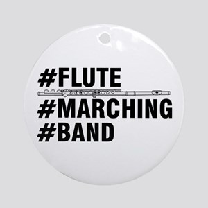 #Flute #Marching #Band Round Ornament
