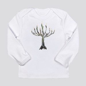 Twig Menorah Chicadees Long Sleeve Infant T-Shirt