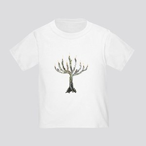 Twig Menorah Chicadees Toddler T-Shirt