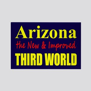 Arizona New 3rd World Rectangle Magnet