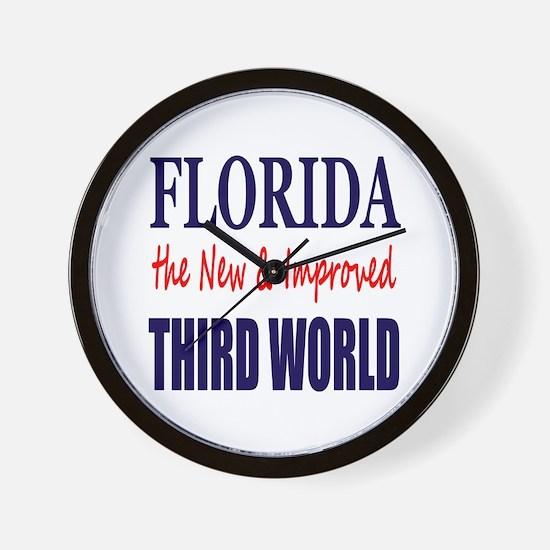 Florida New 3rd World Wall Clock