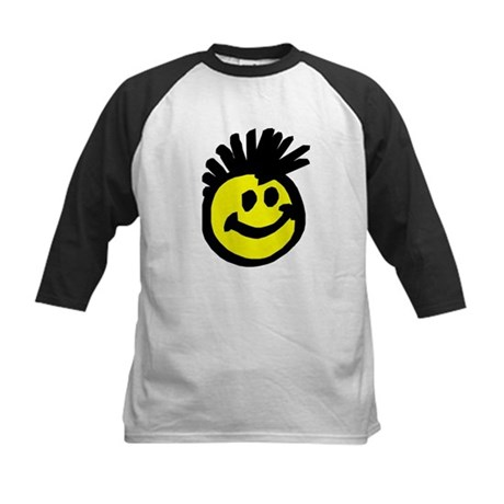 Happy Punk Mohawk Kids Baseball Jersey