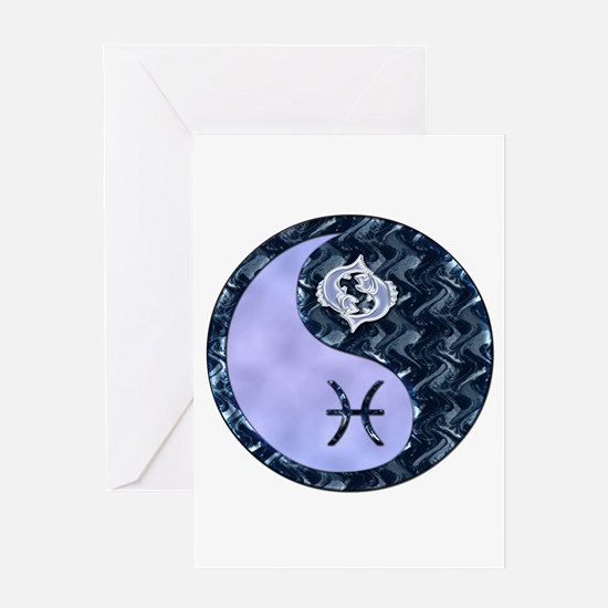 Yin yang pisces stationery cards invitations greeting cards more cute yin yang pisces greeting card sciox Gallery