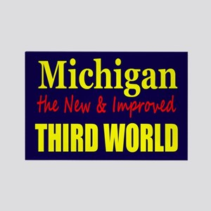 Michigan New 3rd World Rectangle Magnet