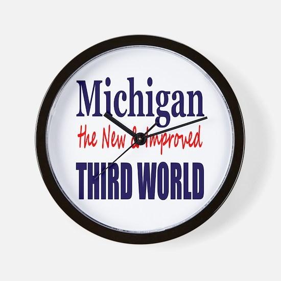 Michigan New 3rd World Wall Clock
